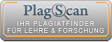 The image shows our cooperation with the online plagiarism detection service PlagScan